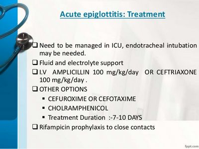 Treatment Options for Epiglottis ring of plastic over the